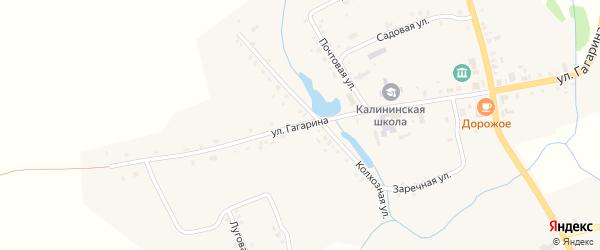 Улица Гагарина на карте села Калинино с номерами домов