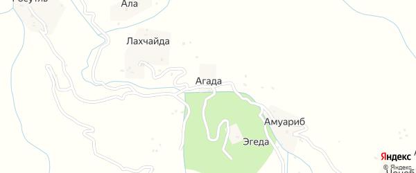Агадинская улица на карте села Агады с номерами домов
