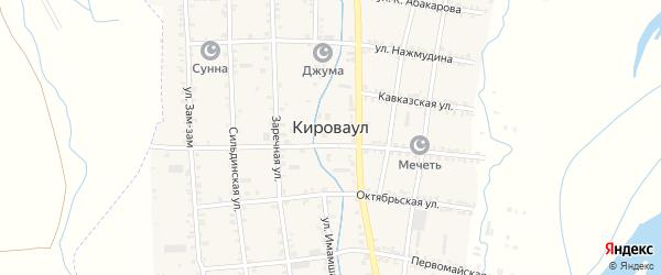 Набережная улица на карте села Кироваула с номерами домов