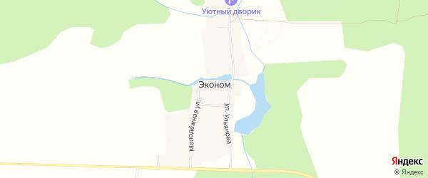 Карта поселка Эконома в Чувашии с улицами и номерами домов