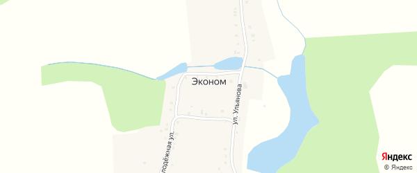 Лесной переулок на карте поселка Эконома с номерами домов