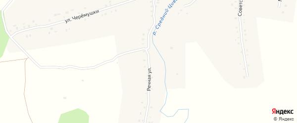 Речная улица на карте деревни Вурманкасы с номерами домов