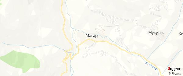 Карта села Магара в Дагестане с улицами и номерами домов