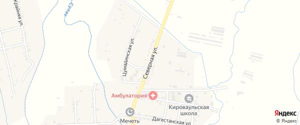 Северная улица на карте села Кироваула с номерами домов