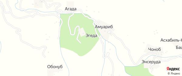 Эгединская улица на карте хутора Эгеды с номерами домов