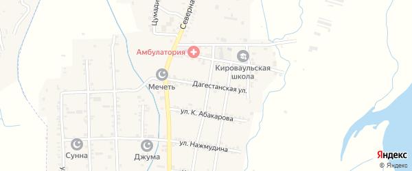 Дагестанская улица на карте села Кироваула с номерами домов