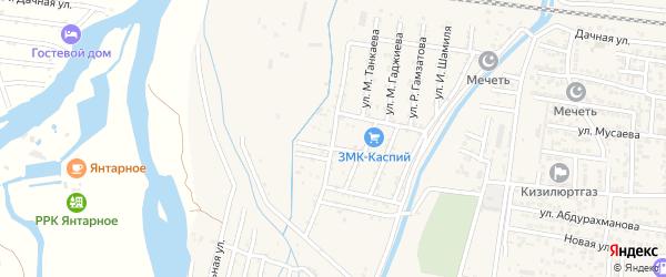 Хасавюртовская улица на карте села Султанянгиюрта с номерами домов