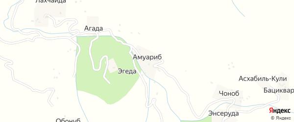 Амуарибская улица на карте хутора Амуариба с номерами домов