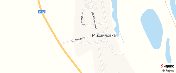 Степная улица на карте села Михайловки с номерами домов