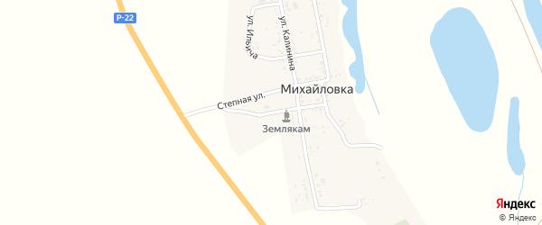 Улица О.Кошевого на карте села Михайловки с номерами домов