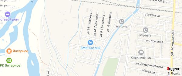 Улица М.Гаджиева на карте поселка Бавтугая с номерами домов