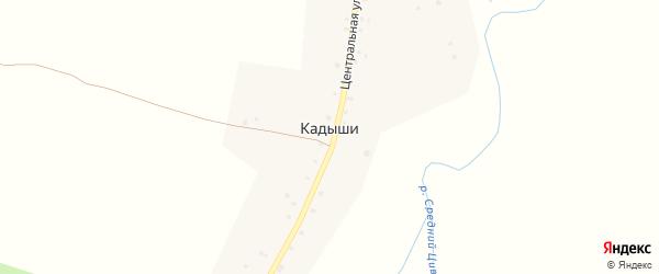 Центральная улица на карте деревни Кадыши с номерами домов