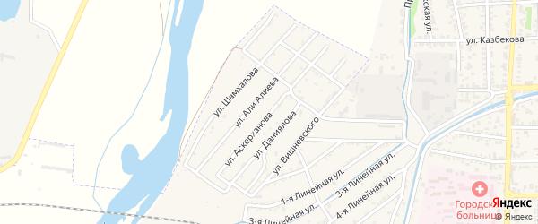 Улица Аскерханова на карте Кизилюрта с номерами домов