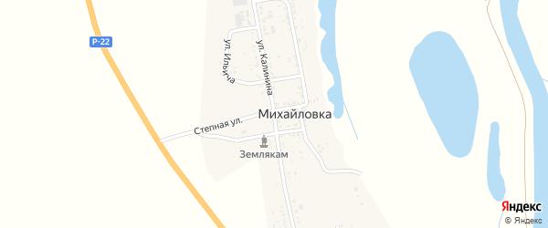 Улица Калинина на карте села Михайловки с номерами домов