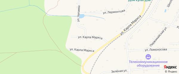 Улица Чапаева на карте поселка Киря с номерами домов