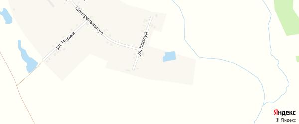 Улица Корлуй на карте деревни Сендимира с номерами домов