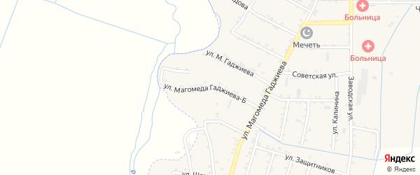 Улица Магомеда Гаджиева-Б на карте села Чонтаула с номерами домов