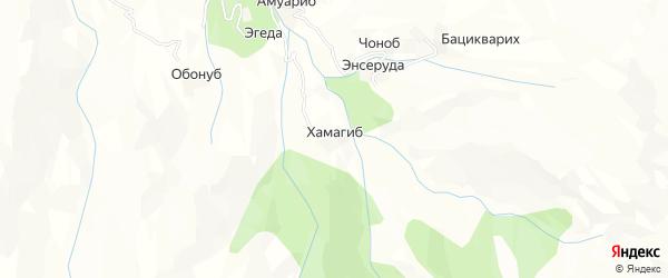 Карта хутора Хамагиба в Дагестане с улицами и номерами домов