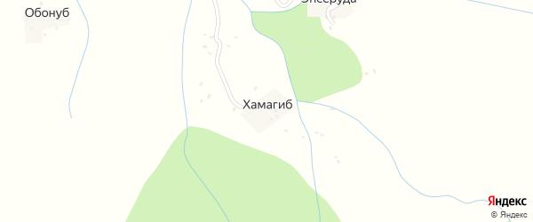Хамагибская улица на карте хутора Хамагиба с номерами домов