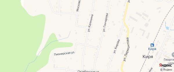 Улица Калинина на карте поселка Киря с номерами домов
