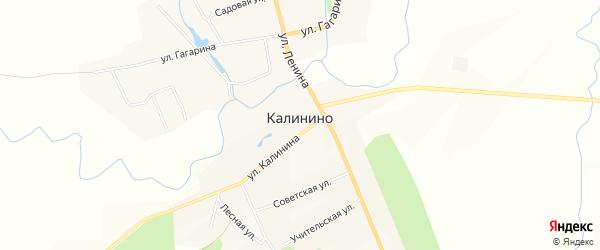 Карта села Калинино в Чувашии с улицами и номерами домов