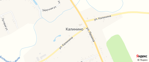 Заречная улица на карте села Калинино с номерами домов