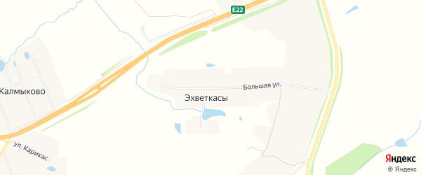 СТ Автомобилист на карте деревни Эхветкас с номерами домов