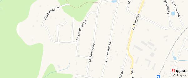 Улица Калинина на карте Первомайского поселка с номерами домов