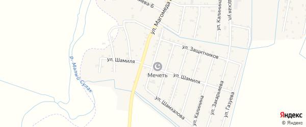 Улица Байсунгурова на карте села Чонтаула с номерами домов
