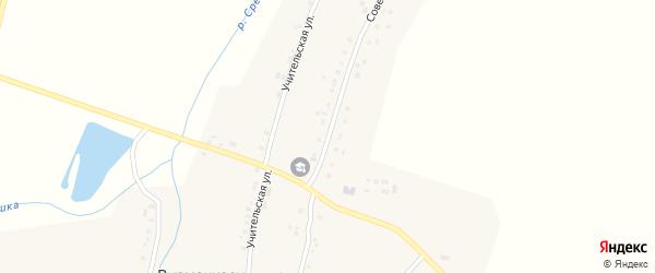 Советская улица на карте деревни Вурманкасы с номерами домов