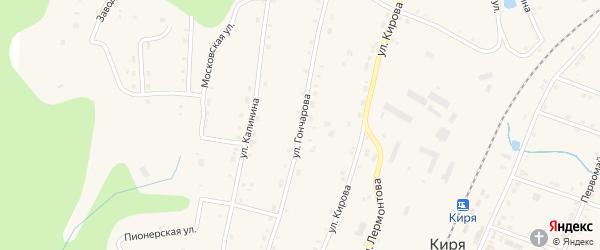 Улица Гончарова на карте поселка Киря с номерами домов