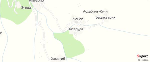 Энсеродинская улица на карте хутора Энсеруды с номерами домов