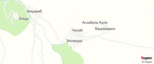 Чонобская улица на карте хутора Чоноба с номерами домов