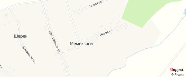 Новая улица на карте деревни Мемеккас с номерами домов