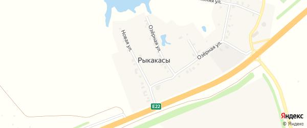 Новая улица на карте деревни Рыкакасы с номерами домов
