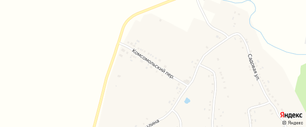 Комсомольский переулок на карте деревни Буртасов с номерами домов