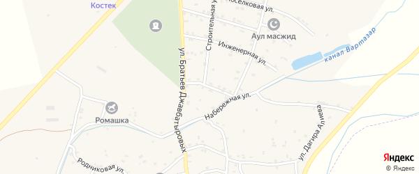 Улица Энергетиков на карте села Костека с номерами домов