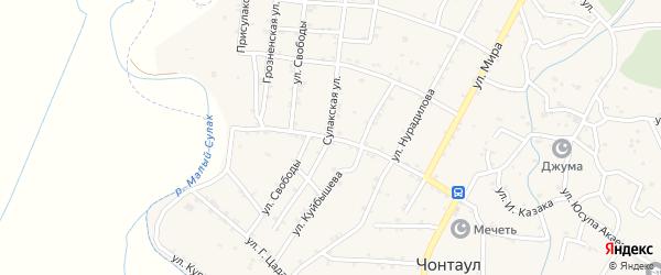 Улица Орджоникидзе на карте села Чонтаула с номерами домов