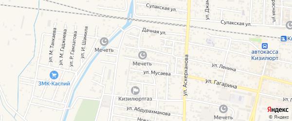 Улица Кара-Караева на карте Кизилюрта с номерами домов