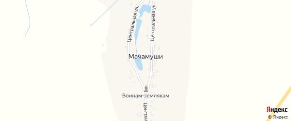 Центральная улица на карте деревни Мачамуши с номерами домов