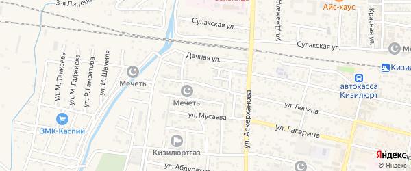 Улица Тахо-Годи на карте Кизилюрта с номерами домов