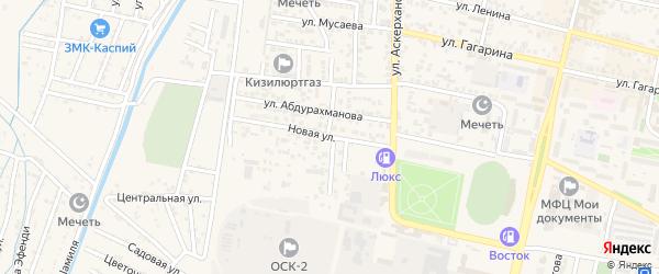 Новая улица на карте Кизилюрта с номерами домов