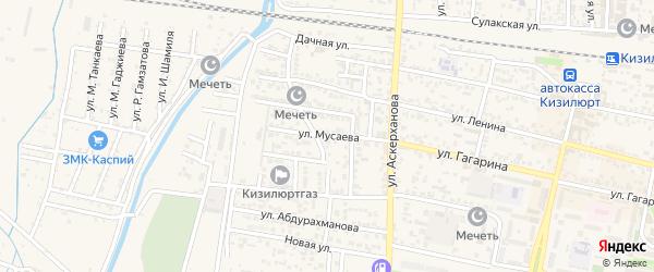 Улица Мусаева на карте Кизилюрта с номерами домов