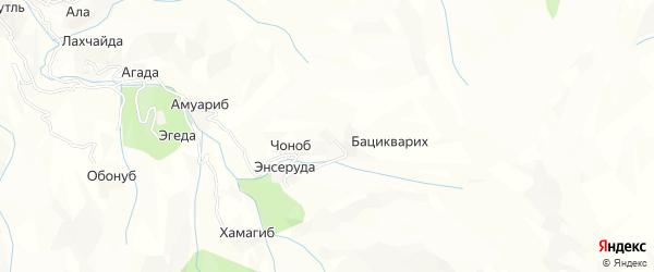 Карта хутора Асхабиля-Кули в Дагестане с улицами и номерами домов
