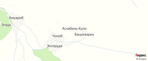 Асхабилкулинская улица на карте хутора Асхабиля-Кули с номерами домов