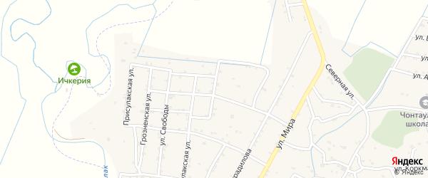 Кавказская улица на карте села Чонтаула с номерами домов