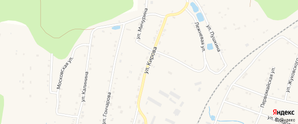 Улица Кирова на карте поселка Киря с номерами домов