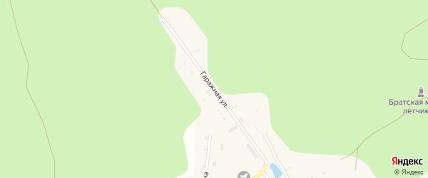 Гаражная улица на карте поселка Киря с номерами домов