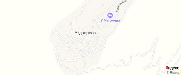 Улица Гамзата Алиева на карте села Уздалроса с номерами домов