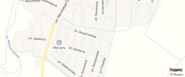 Улица Калинина на карте села Чонтаула с номерами домов